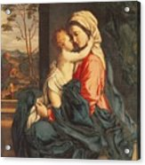The Virgin And Child Embracing Acrylic Print