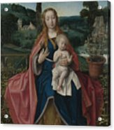 The Virgin And Child In A Landscape Acrylic Print