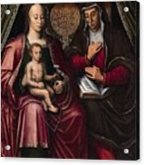 The Virgin And Child With Saint Anne Acrylic Print