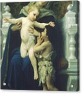 The Virgin Baby Jesus And Saint John The Baptist Acrylic Print