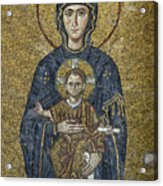 The Virgin Mary Holds The Child Christ On Her Lap Acrylic Print
