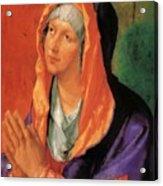 The Virgin Mary In Prayer Acrylic Print