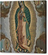 The Virgin Of Guadalupe With The Four Apparitions Acrylic Print