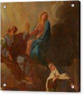 The Virgin Placing St Teresa Under The Protection Of St Joseph Acrylic Print