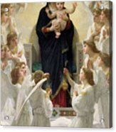 The Virgin With Angels Acrylic Print by William-Adolphe Bouguereau