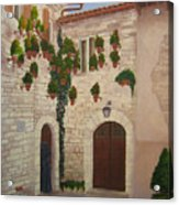The Visitor In Assisi Acrylic Print