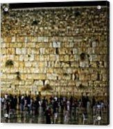 The Wailing Wall - Jerusalem  Acrylic Print