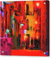 The Walkabouts - Spanish Red Moon Stroll Acrylic Print