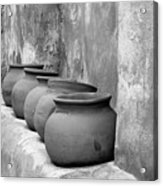 The Wall Of Pots Acrylic Print