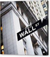 The Wall Street Street Sign Acrylic Print