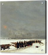 The War Of 1870 An Infantry Column On Their Way To A Raid Acrylic Print