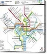 The Washington, D. C. Pubway Map Acrylic Print