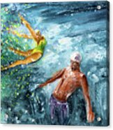 The Water Wall Acrylic Print