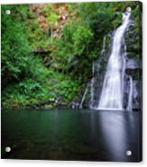 The Waterfall And Large Pool Of Vieiros Acrylic Print