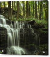 The Waterfall In The Forest Acrylic Print