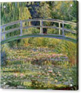 The Waterlily Pond With The Japanese Bridge Acrylic Print by Claude Monet
