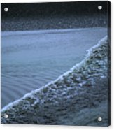 The Wave Of A Bore Tide Traveling Acrylic Print