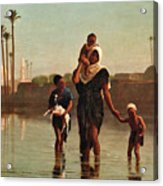 The Way From The Village. Time Of Inundation. Egypt Acrylic Print