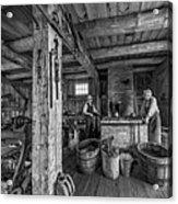 The Way We Were - The Blacksmith 2 Bw Acrylic Print