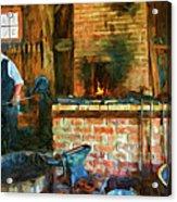The Way We Were - The Blacksmith - Paint Acrylic Print