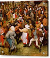The Wedding Dance Acrylic Print by Pieter the Elder Bruegel