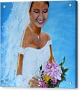the wedding day of my daughter Daniela Acrylic Print