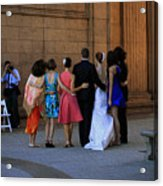 The Wedding Party Detail Acrylic Print