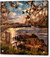 The Weir At Teddington Acrylic Print
