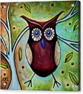 The Whimsical Owl Acrylic Print