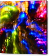 The Whirl Of Christmas Commerce Acrylic Print