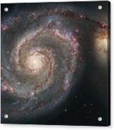 The Whirlpool Galaxy M51 And Companion Acrylic Print