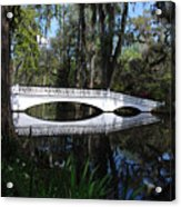 The White Bridge In Magnolia Gardens Charleston Acrylic Print