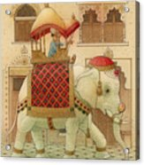 The White Elephant 01 Acrylic Print by Kestutis Kasparavicius
