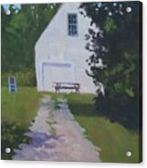 The White Garage - Art By Bill Tomsa Acrylic Print
