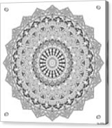 The White Mandala No. 3 Acrylic Print