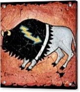 The White Sacred Buffalo Fresco Acrylic Print