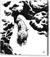 The White Wolf Acrylic Print