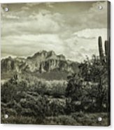 The Wild West Of The Superstitions  Acrylic Print