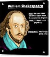 The William Shakespeare Acrylic Print