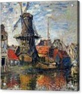 The Windmill Amsterdam Claude Monet 1874 Acrylic Print