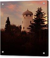 The Windmill At Sunset Acrylic Print