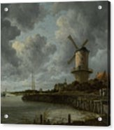The Windmill At Wijk Bij Duurstede 1668-1670 Acrylic Print