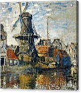 The Windmill On The Onbekende Gracht, Amsterdam 1874 Acrylic Print