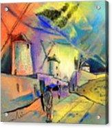 The Windmills Del Quixote 02 Acrylic Print