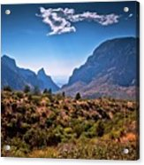 The Window In The Chisos Mountains Acrylic Print