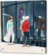 The Window Shoppers Acrylic Print