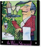 The Wine Steward - Poster Acrylic Print