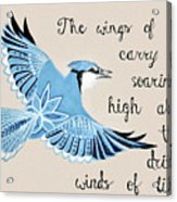 The Wings Of Hope Acrylic Print