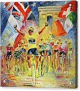 The Winner Of The Tour De France Acrylic Print