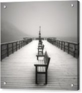 The Winter Pier Acrylic Print